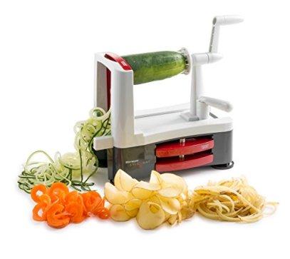 Westmark-Spiralizer-Vegetable-Slicer-Decorator-Veggie-Pasta-Spaghetti-Maker-for-Low-Carbpaleogluten-free-Meals-0-0